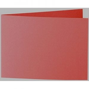 Artoz 1001 - 'Fire Red' Card. 296mm x 105mm 220gsm A6 Folded (Short Edge) Card.