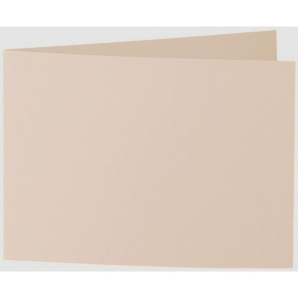 Artoz 1001 - 'Apricot' Card. 296mm x 105mm 220gsm A6 Folded (Short Edge) Card.