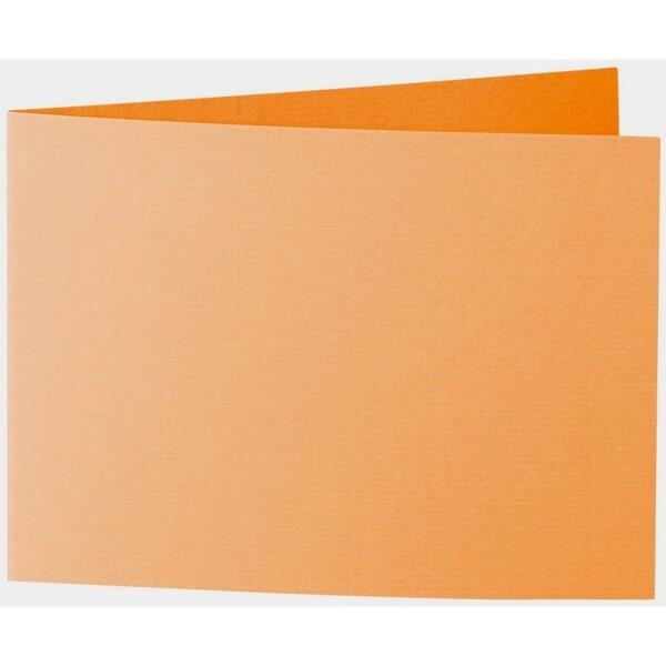 Artoz 1001 - 'Orange' Card. 296mm x 105mm 220gsm A6 Folded (Short Edge) Card.