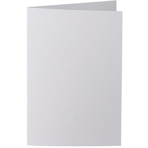 Artoz 1001 - 'Light Grey' Card. 240mm x 169mm 220gsm B6 Bi-Fold (Long Edge) Card.