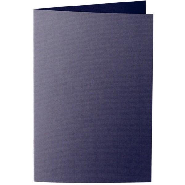 Artoz 1001 - 'Jet Black' Card. 240mm x 169mm 220gsm B6 Bi-Fold (Long Edge) Card.