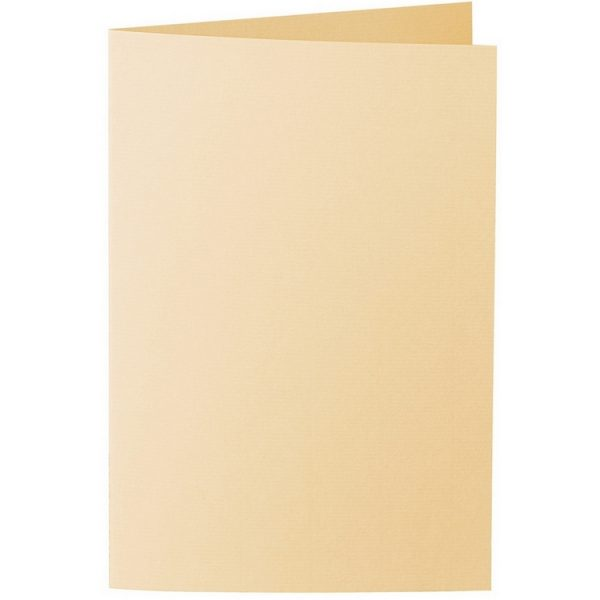 Artoz 1001 - 'Honey Yellow' Card. 240mm x 169mm 220gsm B6 Bi-Fold (Long Edge) Card.