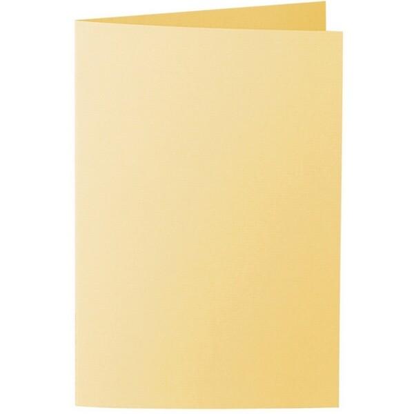 Artoz 1001 - 'Light Yellow' Card. 240mm x 169mm 220gsm B6 Bi-Fold (Long Edge) Card.