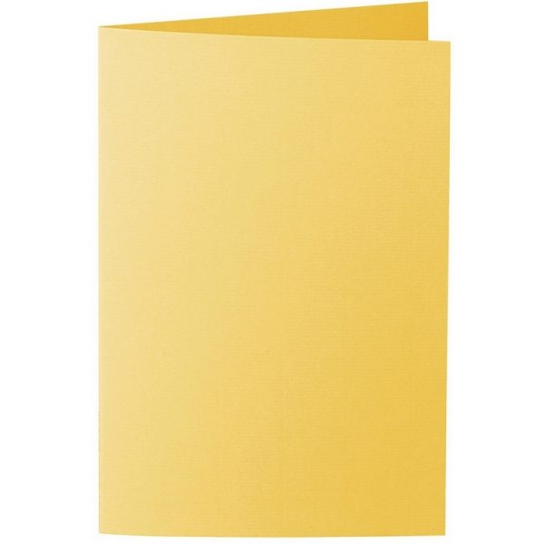 Artoz 1001 - 'Sun Yellow' Card. 240mm x 169mm 220gsm B6 Bi-Fold (Long Edge) Card.