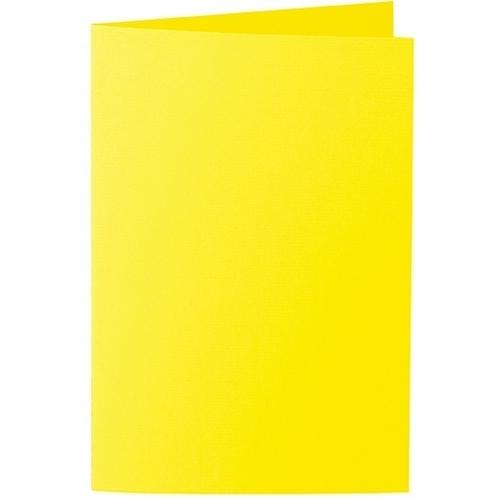 Artoz 1001 - 'Corn Yellow' Card. 240mm x 169mm 220gsm B6 Bi-Fold (Long Edge) Card.