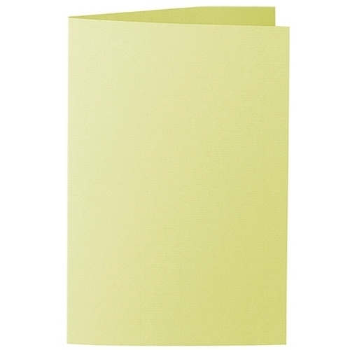 Artoz 1001 - 'Lime' Card. 240mm x 169mm 220gsm B6 Bi-Fold (Long Edge) Card.