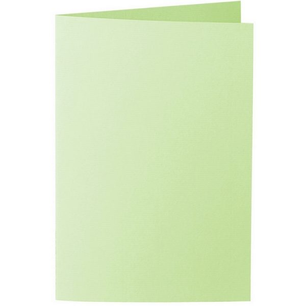 Artoz 1001 - 'Birchtree Green' Card. 240mm x 169mm 220gsm B6 Bi-Fold (Long Edge) Card.