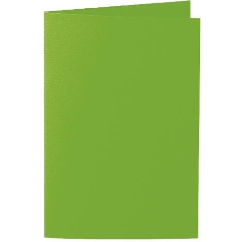 Artoz 1001 - 'Pea Green' Card. 240mm x 169mm 220gsm B6 Bi-Fold (Long Edge) Card.