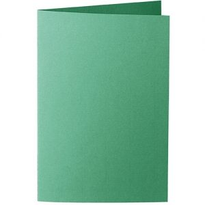 Artoz 1001 - 'Firtree Green' Card. 240mm x 169mm 220gsm B6 Bi-Fold (Long Edge) Card.