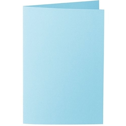 Artoz 1001 - 'Azure Blue' Card. 240mm x 169mm 220gsm B6 Bi-Fold (Long Edge) Card.
