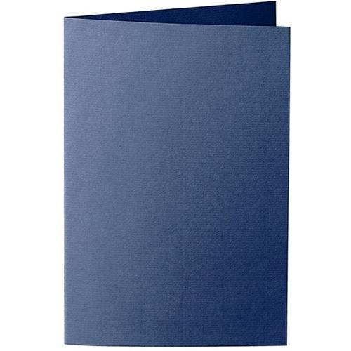 Artoz 1001 - 'Classic Blue' Card. 240mm x 169mm 220gsm B6 Bi-Fold (Long Edge) Card.