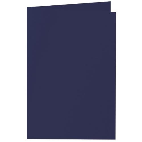 Artoz 1001 - 'Navy Blue' Card. 240mm x 169mm 220gsm B6 Bi-Fold (Long Edge) Card.