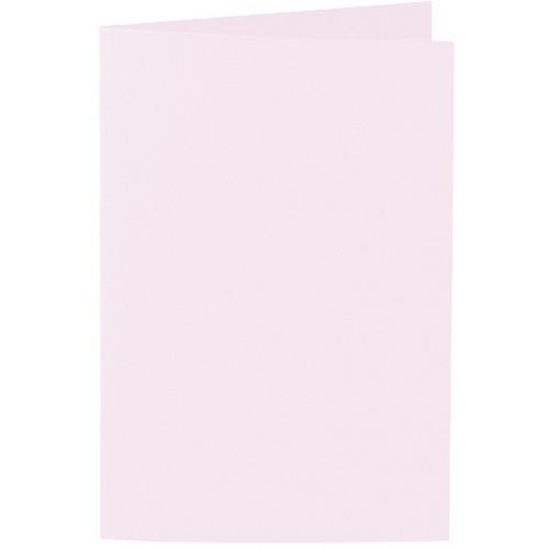 Artoz 1001 - 'Delicate Pink' Card. 240mm x 169mm 220gsm B6 Bi-Fold (Long Edge) Card.