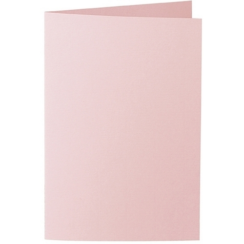 Artoz 1001 - 'Pink' Card. 240mm x 169mm 220gsm B6 Bi-Fold (Long Edge) Card.