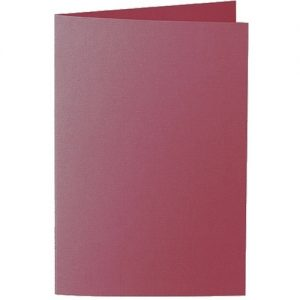 Artoz 1001 - 'Purple Red' Card. 240mm x 169mm 220gsm B6 Bi-Fold (Long Edge) Card.