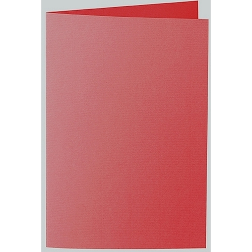 Artoz 1001 - 'Red' Card. 240mm x 169mm 220gsm B6 Bi-Fold (Long Edge) Card.