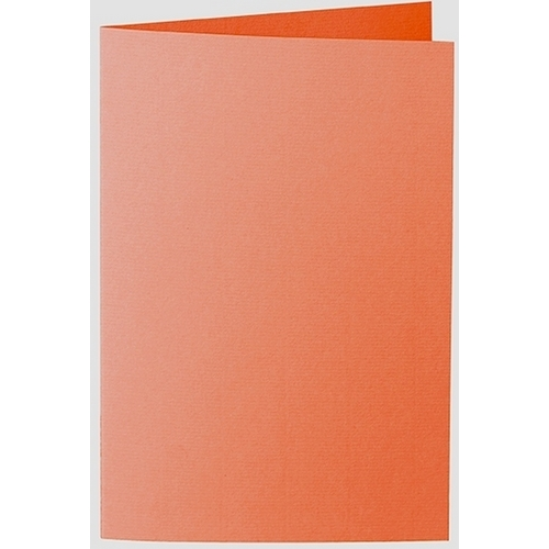 Artoz 1001 - 'Lobster Red' Card. 240mm x 169mm 220gsm B6 Bi-Fold (Long Edge) Card.