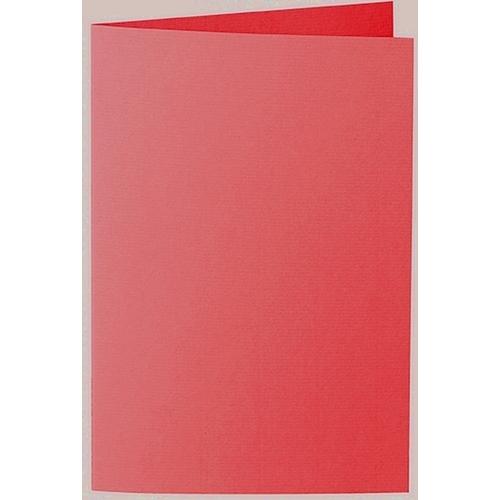 Artoz 1001 - 'Light Red' Card. 240mm x 169mm 220gsm B6 Bi-Fold (Long Edge) Card.