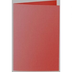 Artoz 1001 - 'Fire Red' Card. 240mm x 169mm 220gsm B6 Bi-Fold (Long Edge) Card.