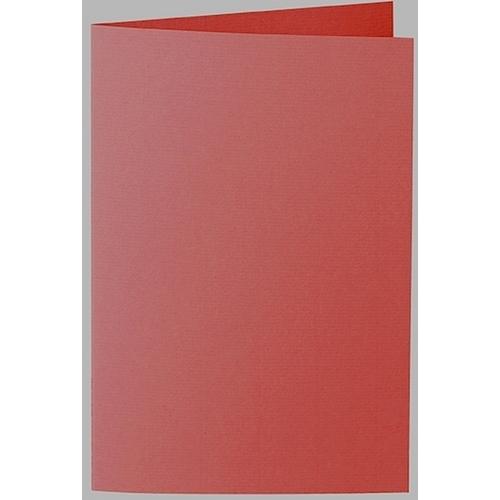 Artoz 1001 - 'Fire Red' Card. 240mm x 169mm 220gsm B6 Bi-Fold (Long Edge) Card.