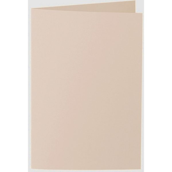Artoz 1001 - 'Apricot' Card. 240mm x 169mm 220gsm B6 Bi-Fold (Long Edge) Card.