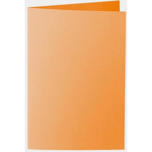 Artoz 1001 - 'Orange' Card. 240mm x 169mm 220gsm B6 Bi-Fold (Long Edge) Card.