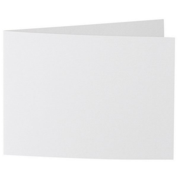 Artoz 1001 - 'Bianco White' Card. 338mm x 120mm 220gsm B6 Bi-Fold (Short Edge) Card.