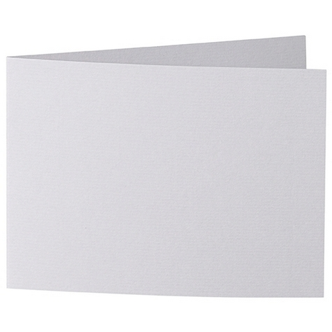 Artoz 1001 - 'Light Grey' Card. 338mm x 120mm 220gsm B6 Bi-Fold (Short Edge) Card.