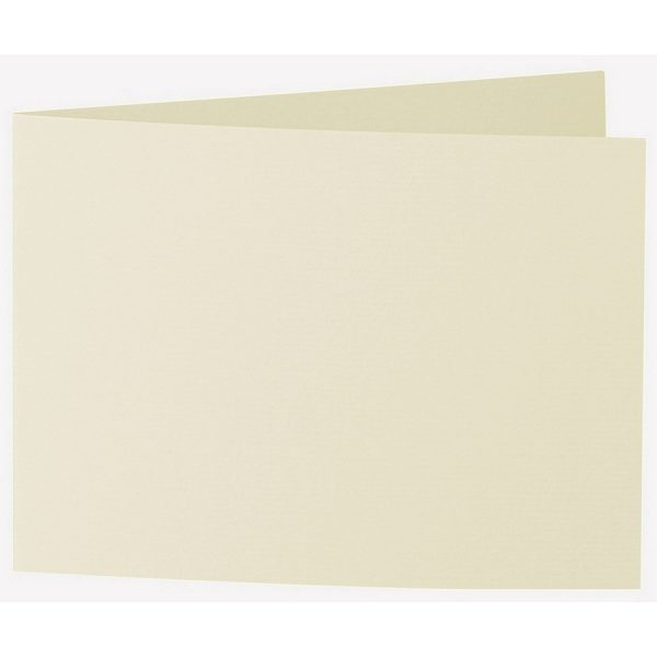 Artoz 1001 - 'Crema' Card. 338mm x 120mm 220gsm B6 Bi-Fold (Short Edge) Card.
