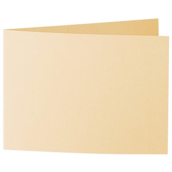 Artoz 1001 - 'Honey Yellow' Card. 338mm x 120mm 220gsm B6 Bi-Fold (Short Edge) Card.