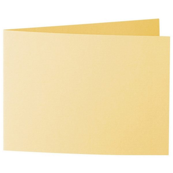 Artoz 1001 - 'Light Yellow' Card. 338mm x 120mm 220gsm B6 Bi-Fold (Short Edge) Card.