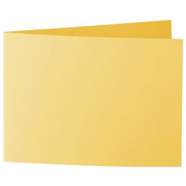 Artoz 1001 - 'Sun Yellow' Card. 338mm x 120mm 220gsm B6 Bi-Fold (Short Edge) Card.