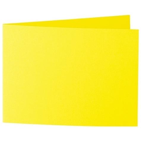 Artoz 1001 - 'Corn Yellow' Card. 338mm x 120mm 220gsm B6 Bi-Fold (Short Edge) Card.