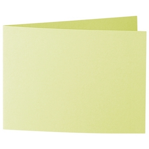 Artoz 1001 - 'Lime' Card. 338mm x 120mm 220gsm B6 Bi-Fold (Short Edge) Card.