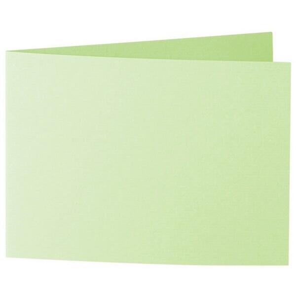 Artoz 1001 - 'Birchtree Green' Card. 338mm x 120mm 220gsm B6 Bi-Fold (Short Edge) Card.