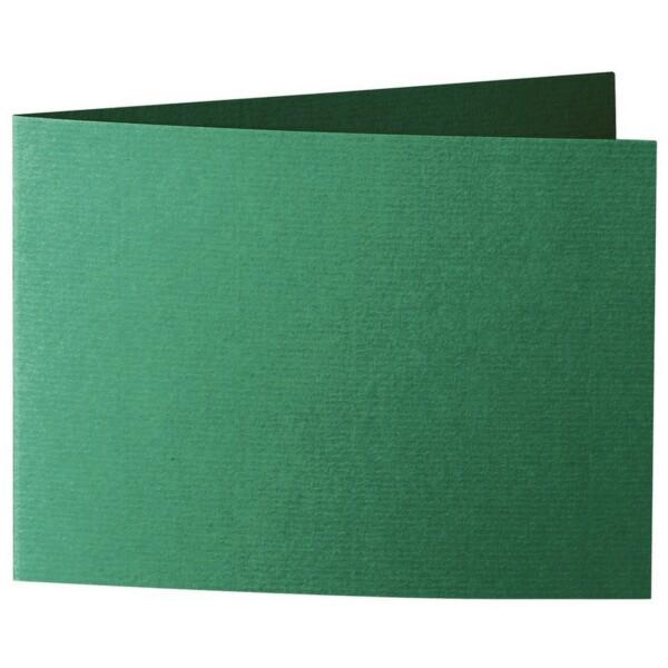 Artoz 1001 - 'Racing Green' Card. 338mm x 120mm 220gsm B6 Bi-Fold (Short Edge) Card.