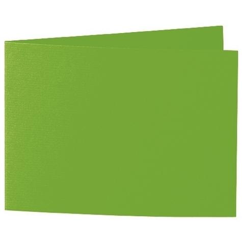 Artoz 1001 - 'Pea Green' Card. 338mm x 120mm 220gsm B6 Bi-Fold (Short Edge) Card.