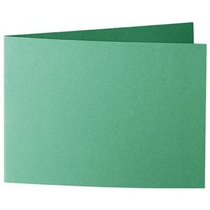 Artoz 1001 - 'Firtree Green' Card. 338mm x 120mm 220gsm B6 Bi-Fold (Short Edge) Card.