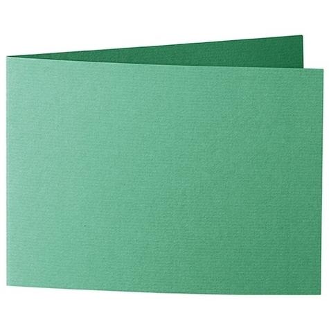 Artoz 1001 - 'Firtree Green' Card. 338mm x 120mm 220gsm B6 Bi-Fold (Short Edge) Card.
