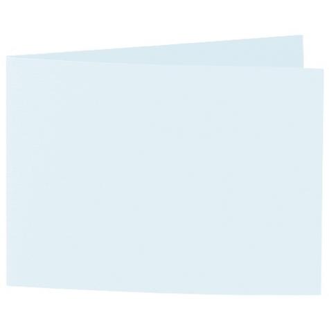 Artoz 1001 - 'Light Blue' Card. 338mm x 120mm 220gsm B6 Bi-Fold (Short Edge) Card.