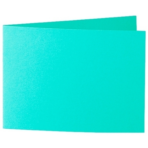 Artoz 1001 - 'Emerald Green' Card. 338mm x 120mm 220gsm B6 Bi-Fold (Short Edge) Card.