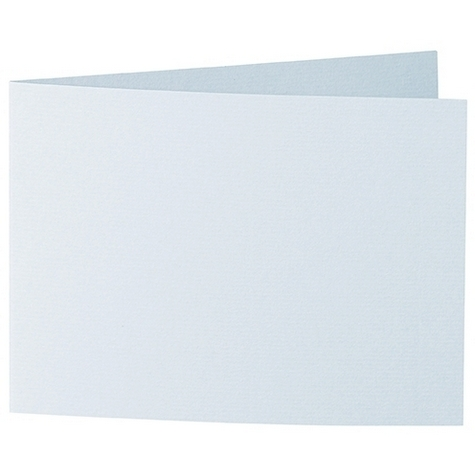 Artoz 1001 - 'Sky Blue' Card. 338mm x 120mm 220gsm B6 Bi-Fold (Short Edge) Card.
