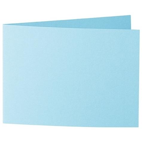 Artoz 1001 - 'Azure Blue' Card. 338mm x 120mm 220gsm B6 Bi-Fold (Short Edge) Card.