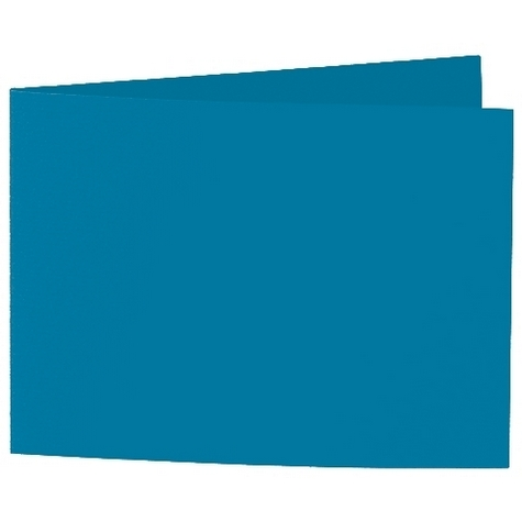 Artoz 1001 - 'Teal' Card. 338mm x 120mm 220gsm B6 Bi-Fold (Short Edge) Card.