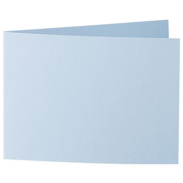 Artoz 1001 - 'Pastel Blue' Card. 338mm x 120mm 220gsm B6 Bi-Fold (Short Edge) Card.