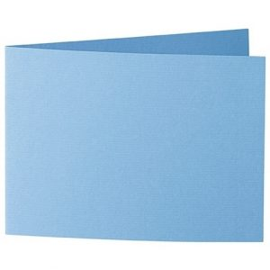Artoz 1001 - 'Marine Blue' Card. 338mm x 120mm 220gsm B6 Bi-Fold (Short Edge) Card.