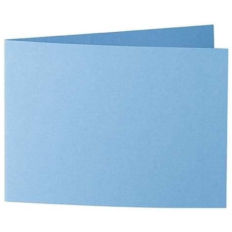 Artoz 1001 - 'Marine Blue' Card. 338mm x 120mm 220gsm B6 Bi-Fold (Short Edge) Card.