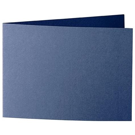 Artoz 1001 - 'Classic Blue' Card. 338mm x 120mm 220gsm B6 Bi-Fold (Short Edge) Card.