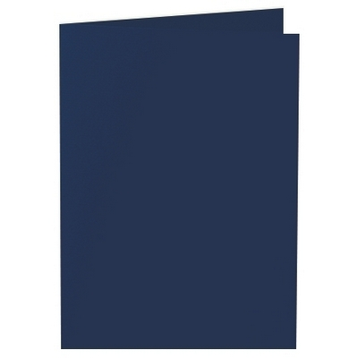 Artoz 1001 - 'Navy Blue' Card. 338mm x 120mm 220gsm B6 Bi-Fold (Short Edge) Card.