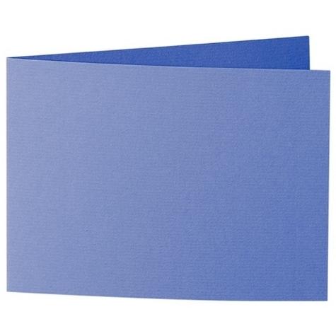 Artoz 1001 - 'Majestic Blue' Card. 338mm x 120mm 220gsm B6 Bi-Fold (Short Edge) Card.